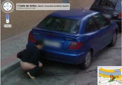 Google Street Views...